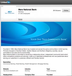 Mars Bank Linkedin