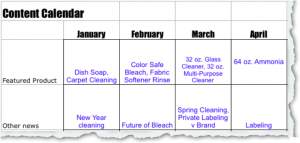 Genius! Marketing Content Calendar